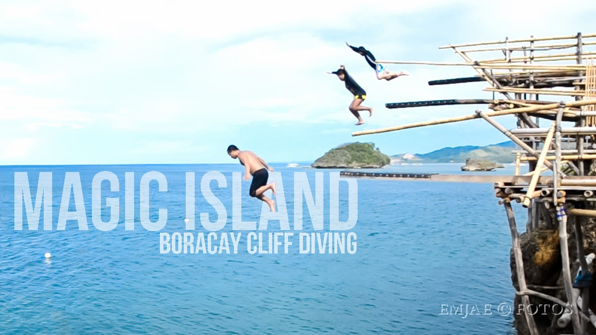 Cliff Diving at Magic Island, Boracay