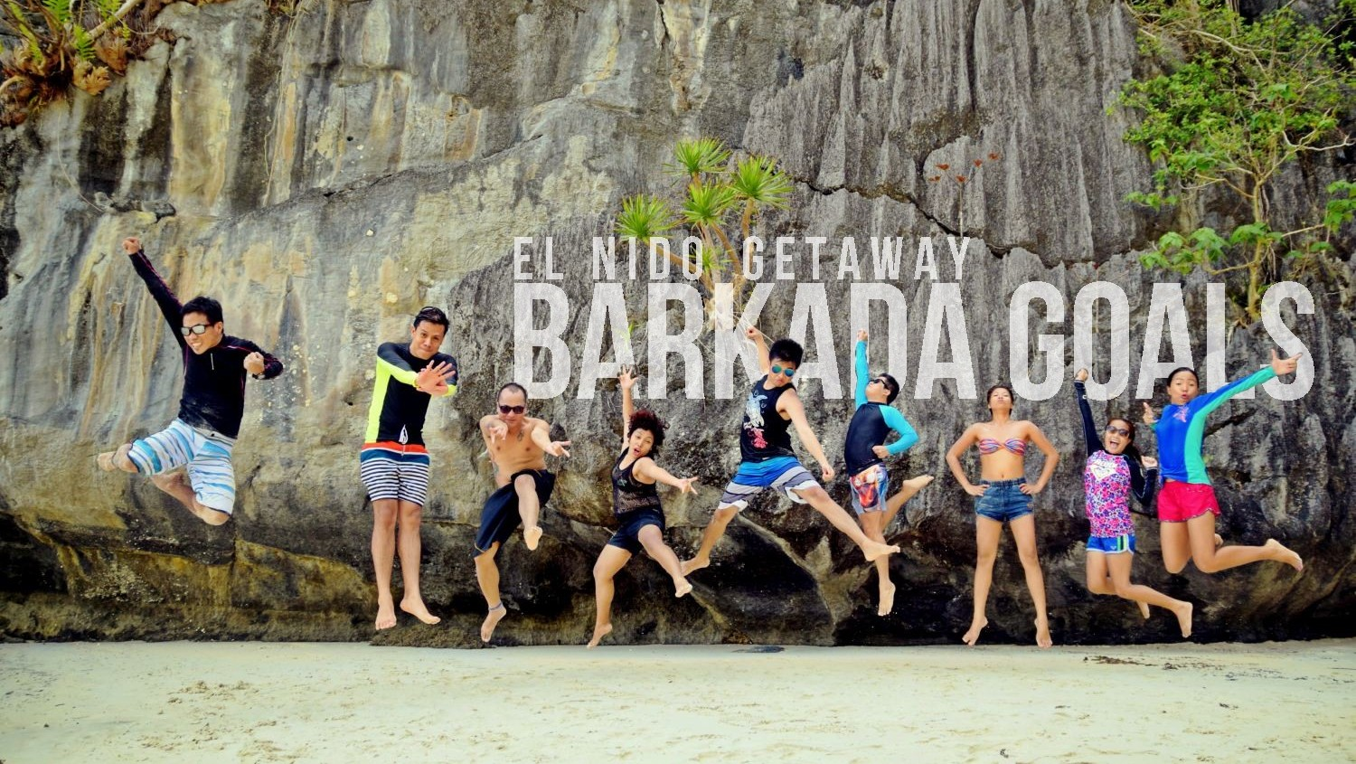 Papaya Beach Jumpshot El Nido Island Hopping Barkada Goals