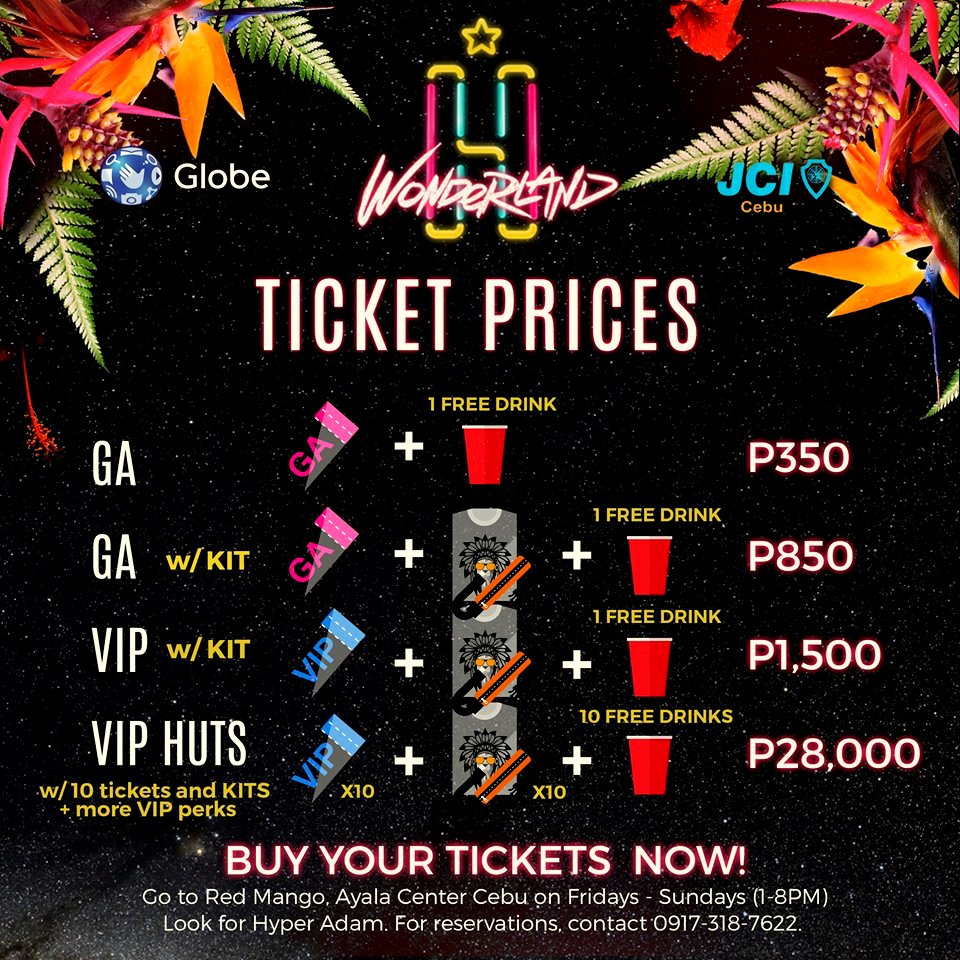 Ticket Prices Hyper Wonderland Sinulog 2016
