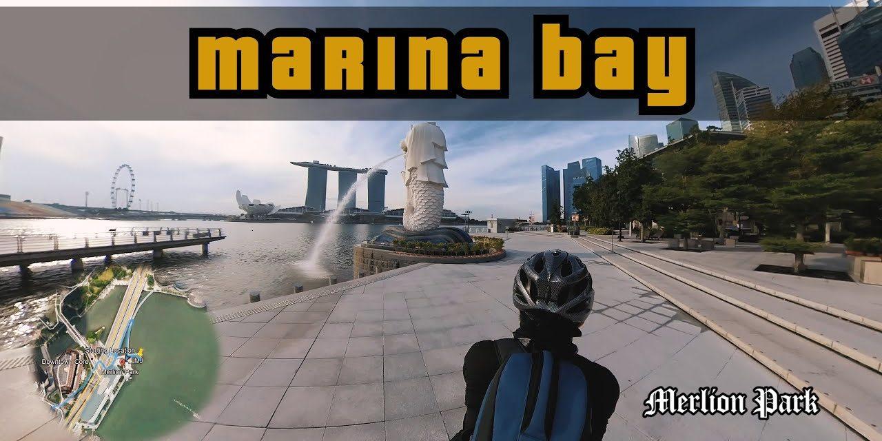 Merlion Park to Marina Bay Sands Sunrise Session | Cycling Singapore