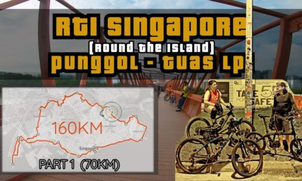 160KM Round The Island Singapore to Lamp Post 1 Cycling Route