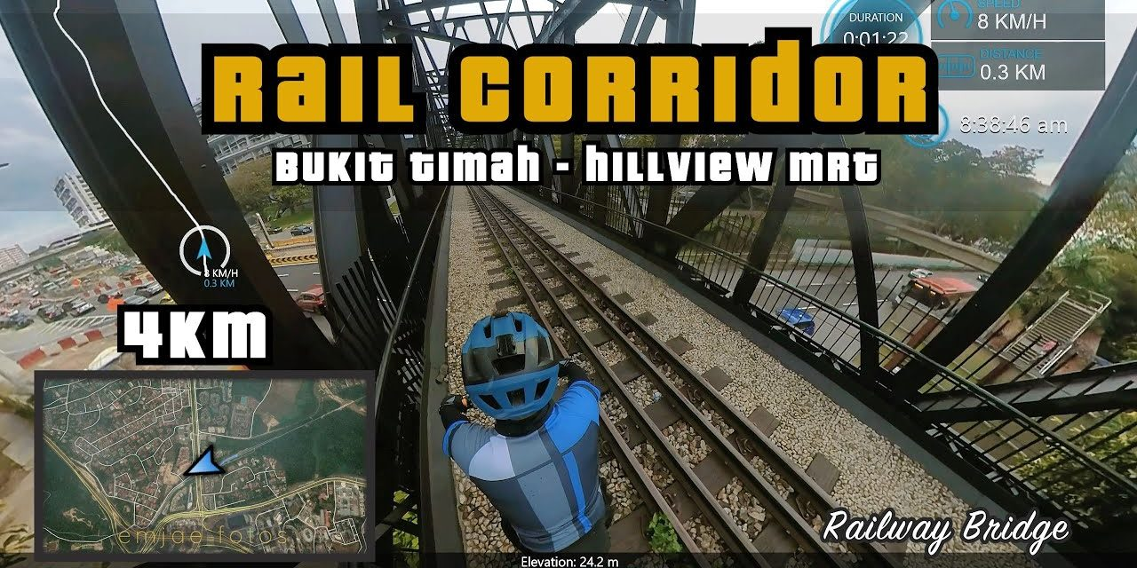 4KM Rail Corridor Central   Old Bukit Timah Railway to Hillview MRT