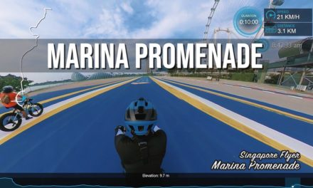 Marina Promenade from Kallang Riverside Park to Singapore Flyer